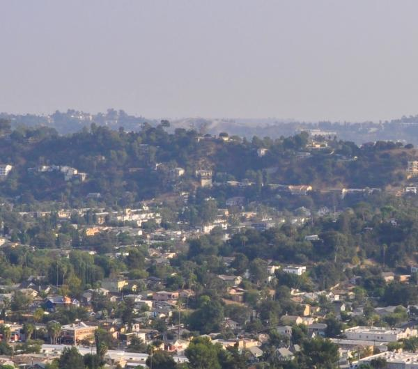 Aerial view of Northeast Los Angeles